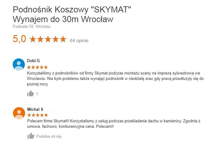 Skymat Podnośniki Koszowe Wrocław - opinie